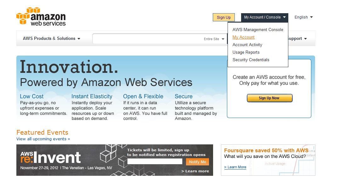 Amazon Web Portal