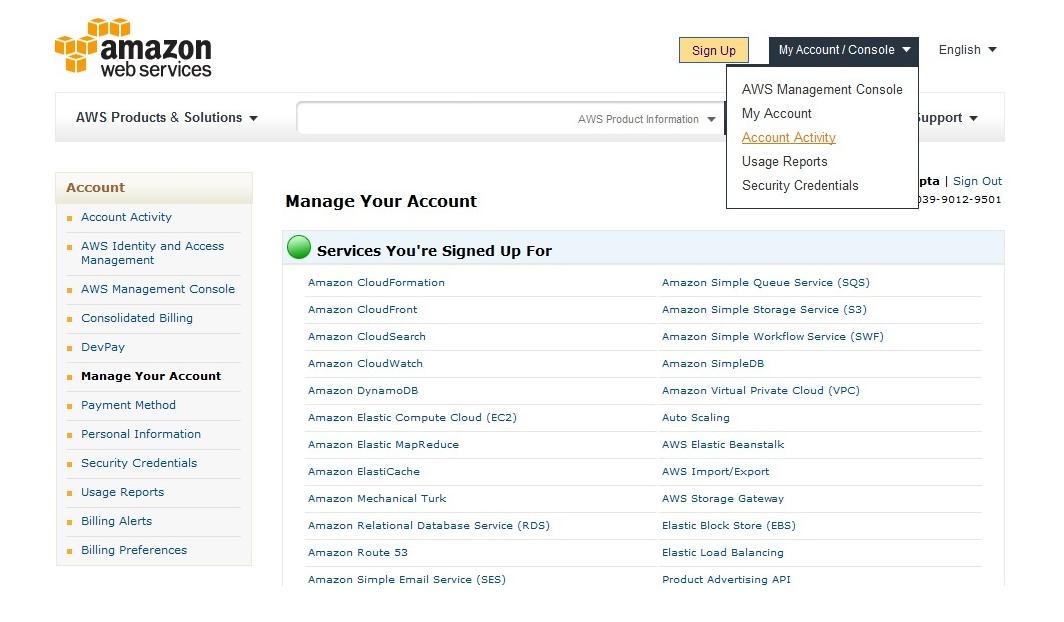 Amazon My Account Activity