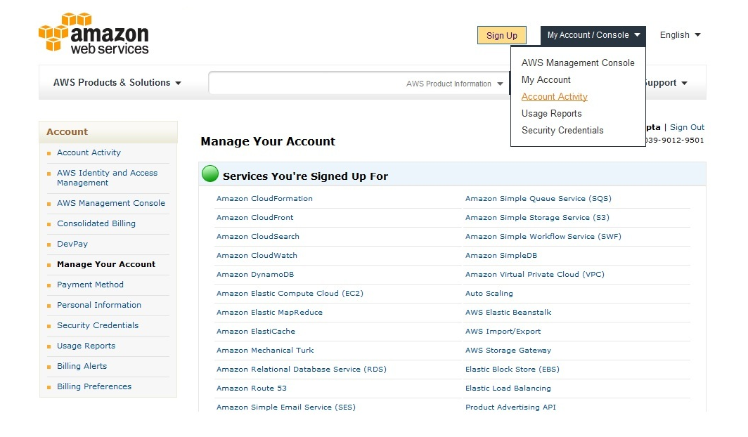 Amazon My Account Activity