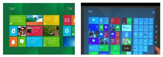 Windows 8 - style UI overtakes GUI