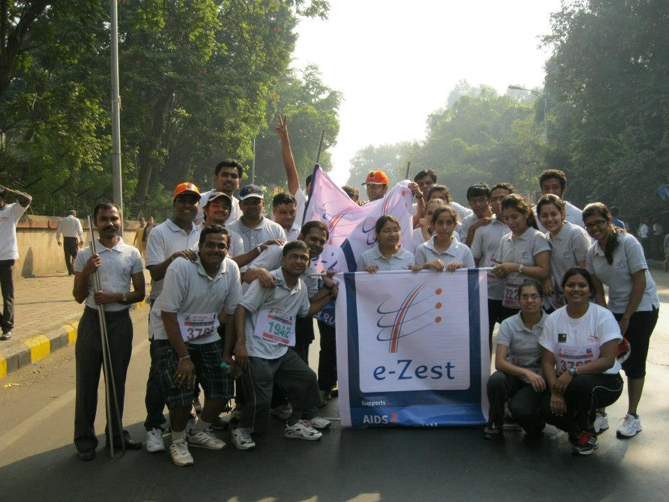 e-Zestians displayed love for life by participating at 27th Pune International Marathon 2012