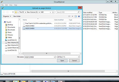 vhds cloudexperer Upload as page