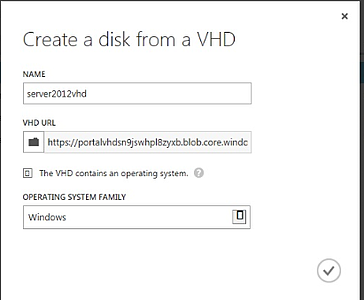 create a disc from VHD