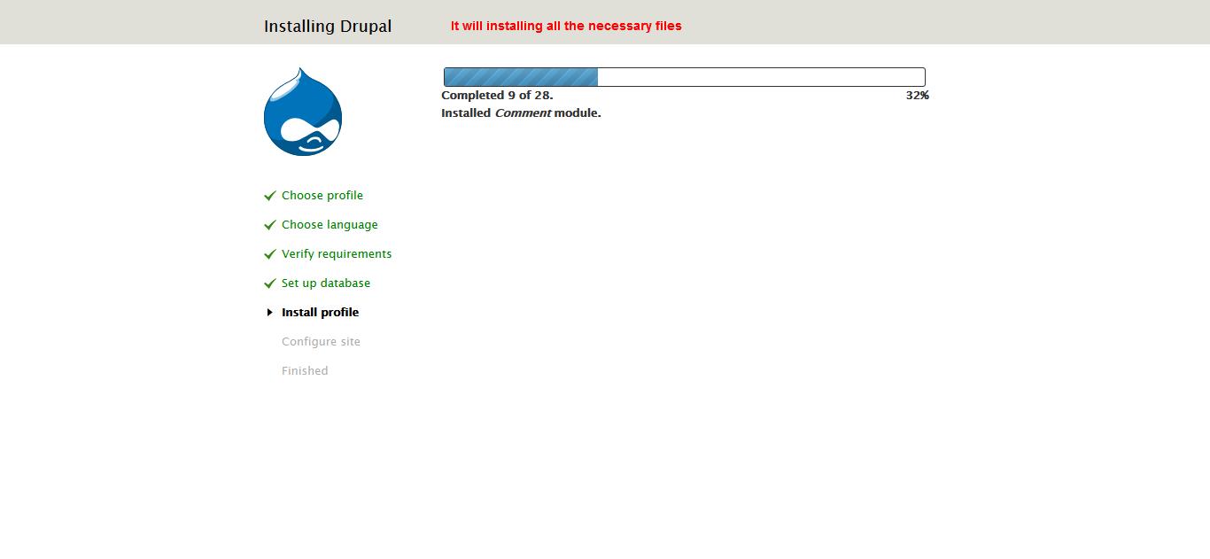 install Drupal