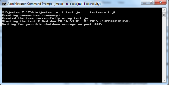 Running JMeter using command line