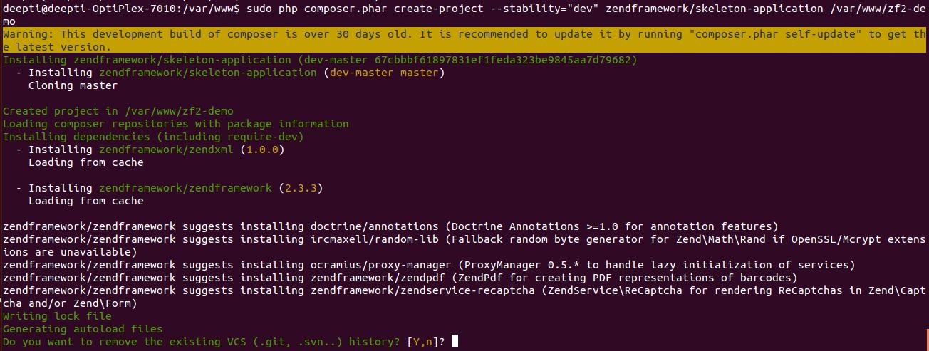 Quick setup of ZF2 on Linux/Ubuntu OS