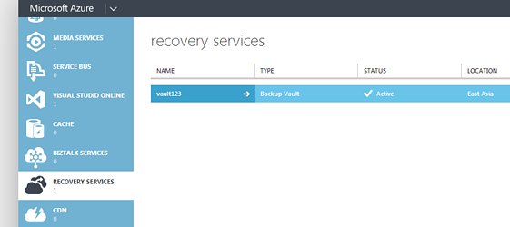 recovery manager - Windows Azure