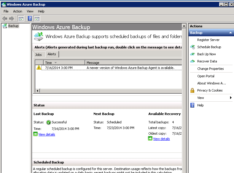 Windows azure agent