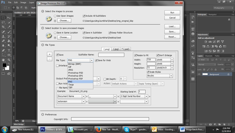 Image Processor pro window