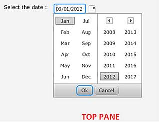 Calendar Control in JavaFX 2 0