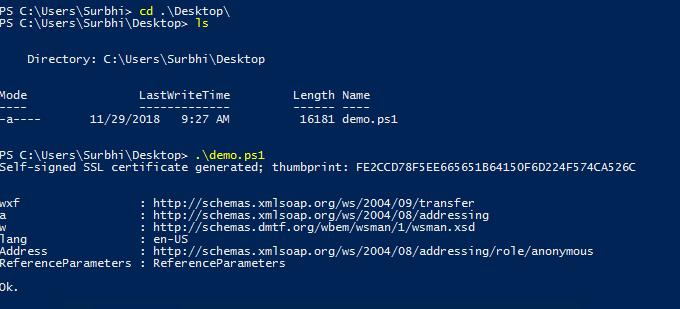 power shell script