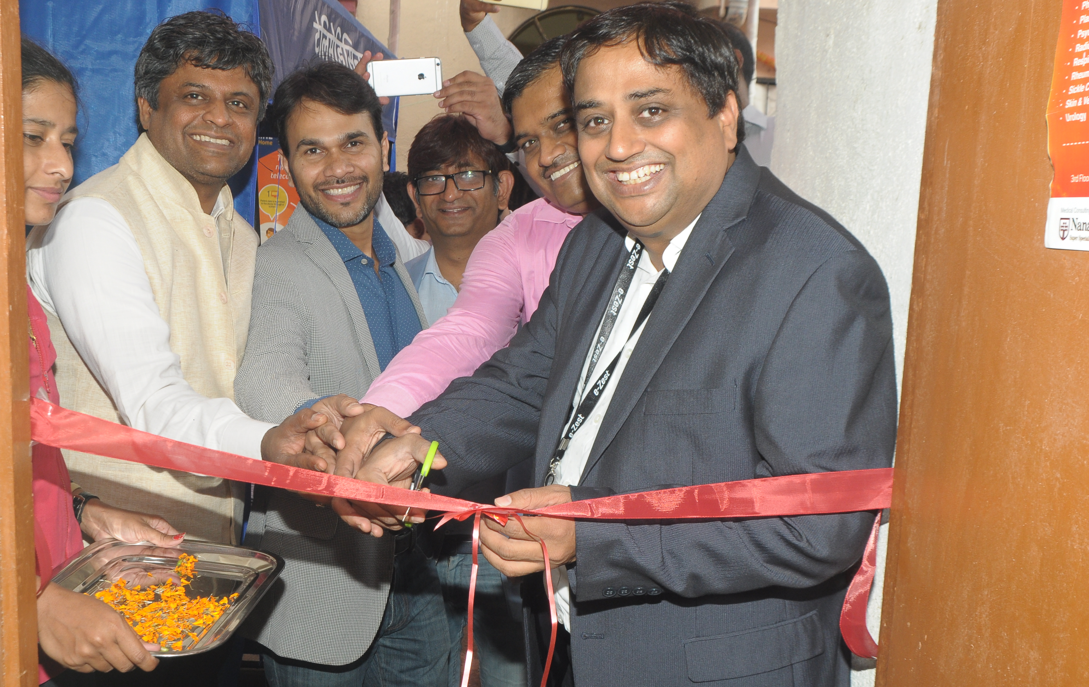 Devendra Deshmukh, CEO and Founder- e-Zest, along with the team inaugurating the facility at Dapodi-1