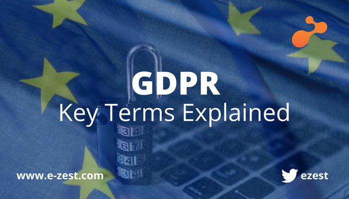 GDPR - Key Terms Explained e-Zest
