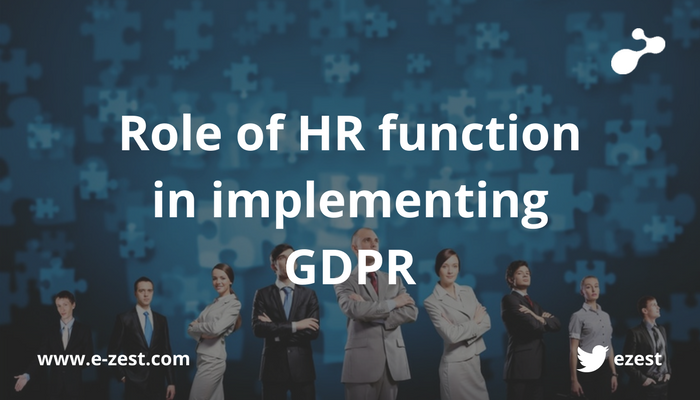 Role of HR functions in implementing GDPR