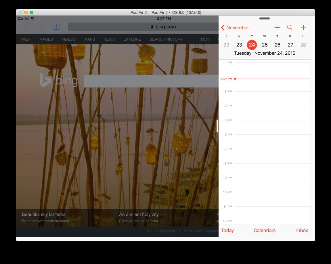 Multitasking in iOS 9