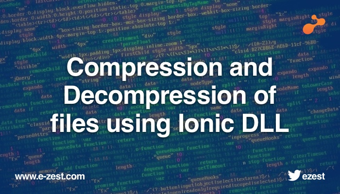 Compression and Decompression of files using Ionic DLL