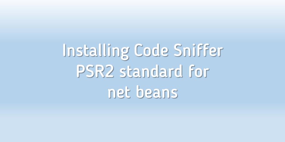 codesniffer netbeans