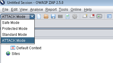OWASP ZAP Modes