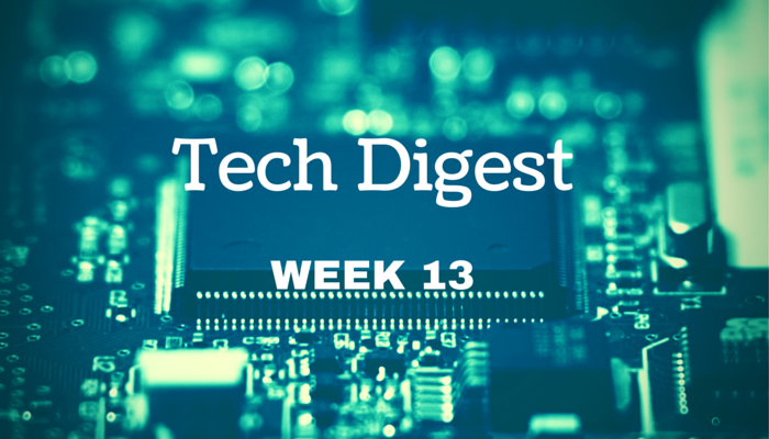 Technology news from around the globe - Week 13, 2016