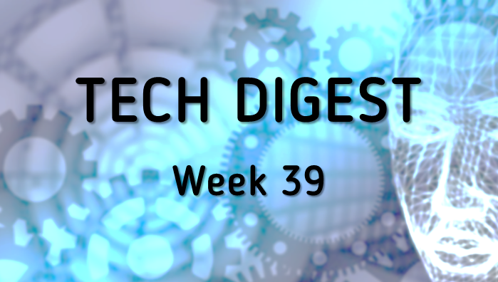 Technology news from around the globe - Week 39, 2016