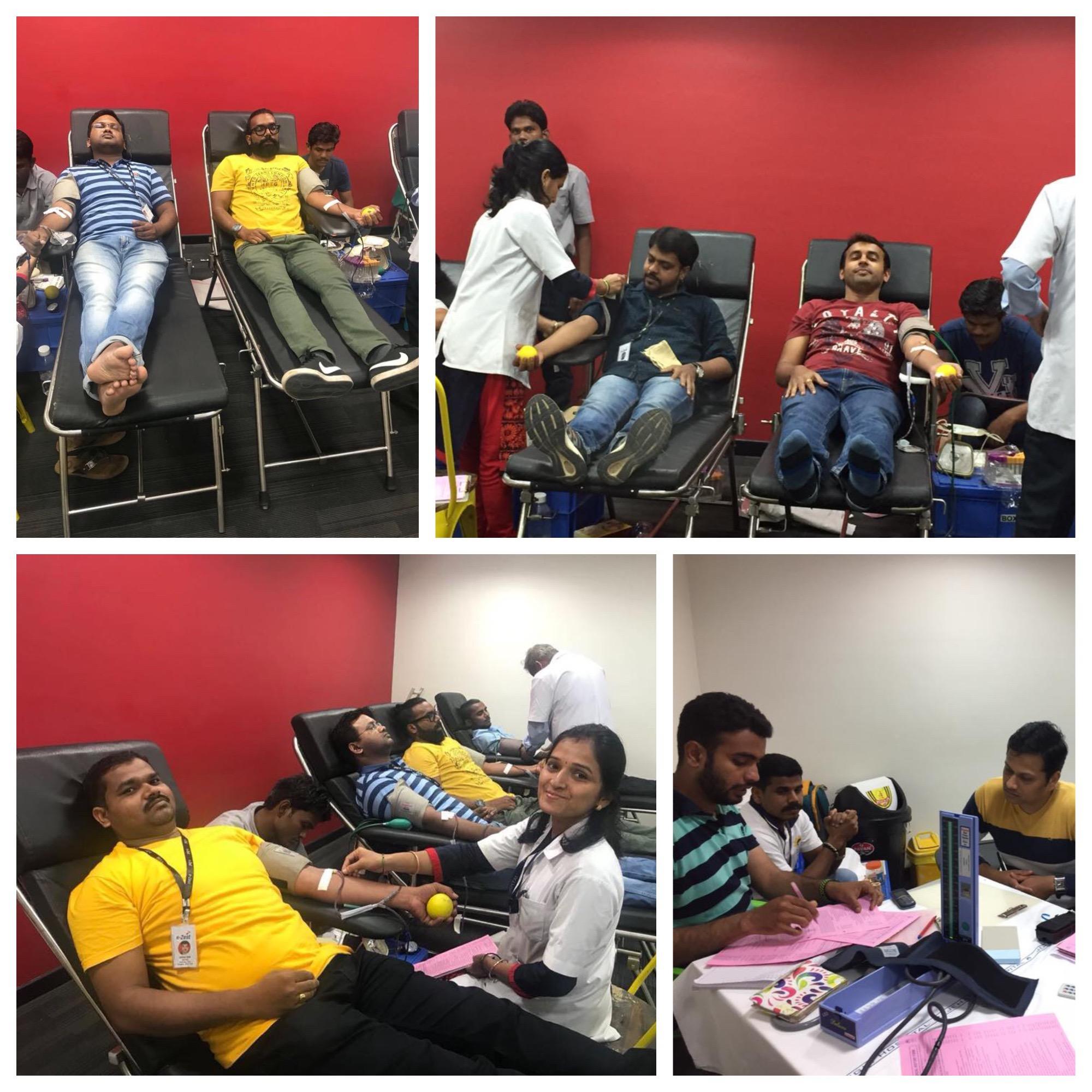 e-Zest organizes blood donation drive